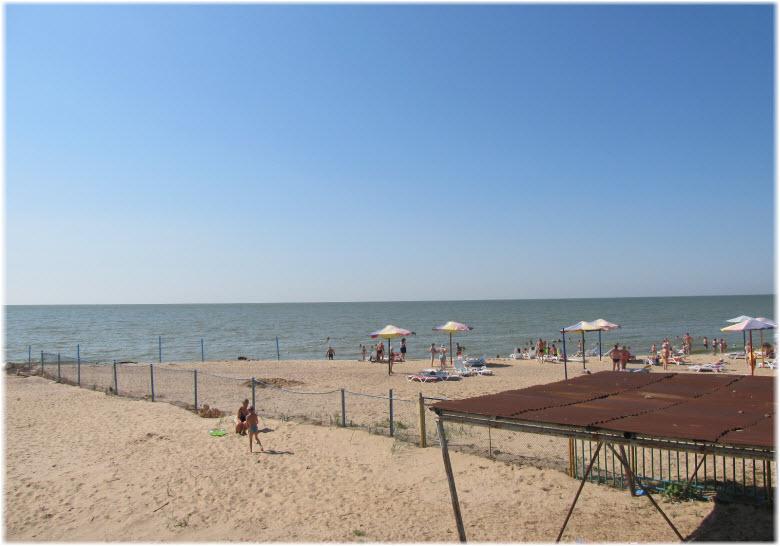 Пляж в селе Рожок