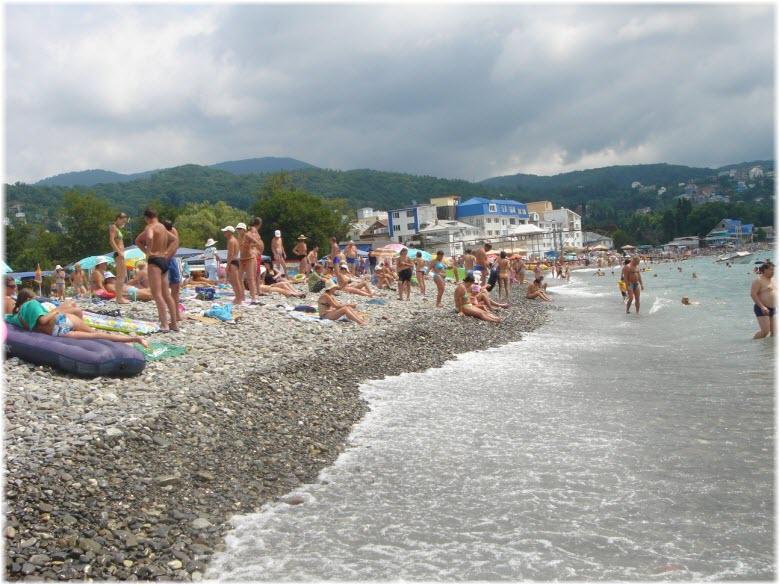 пляжи лазаревского фото