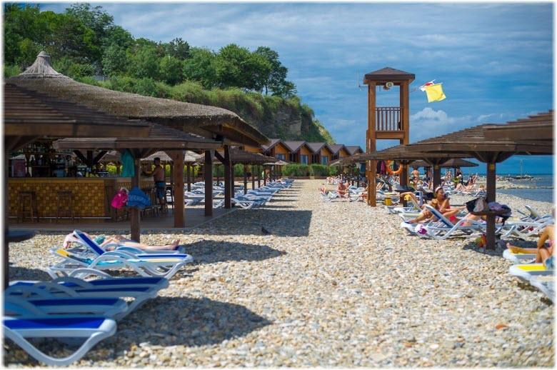 фото на пляже Золотая бухта