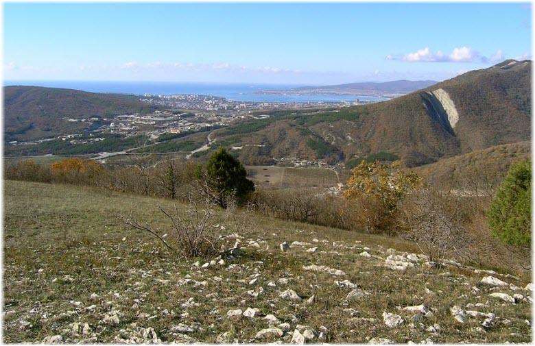 вид на Геленджик с горы Нексис