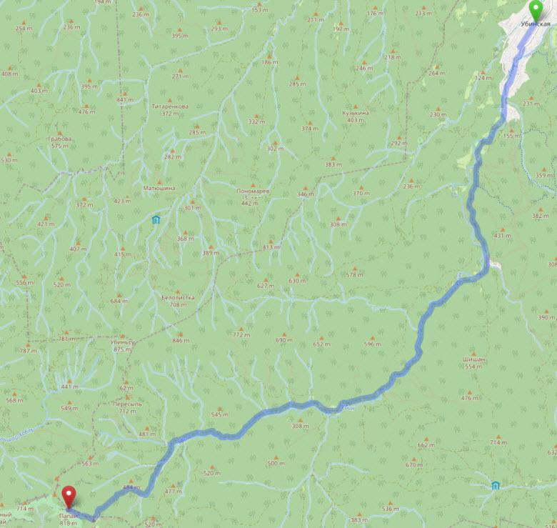 маршрут на гору Папай