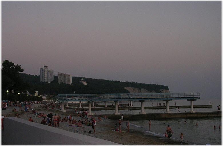 пляж санатория Дивноморское