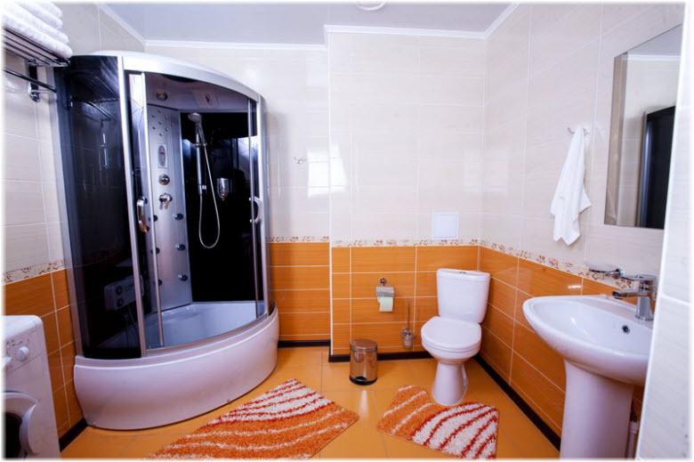 ванная в отеле Русь