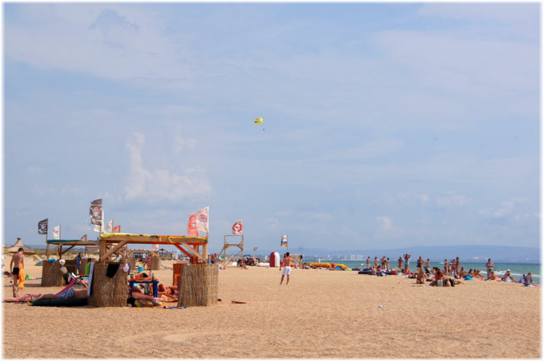 на пляже Тортуга