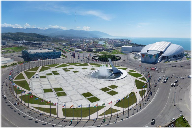 Олимпийская площадь в Сочи