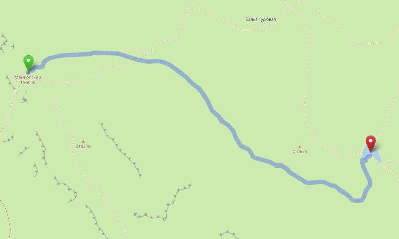 перевал Майкопский - озеро Псенодах