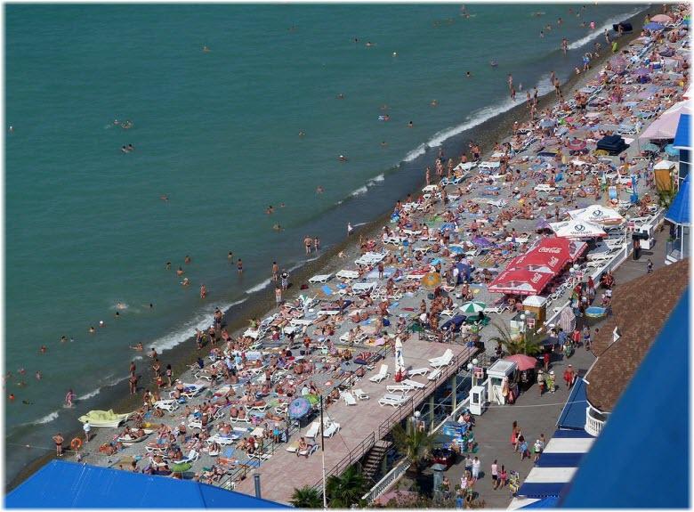 пляж на набережной