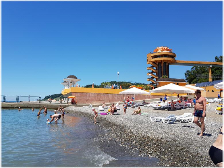 пляж санатория Дагомыс