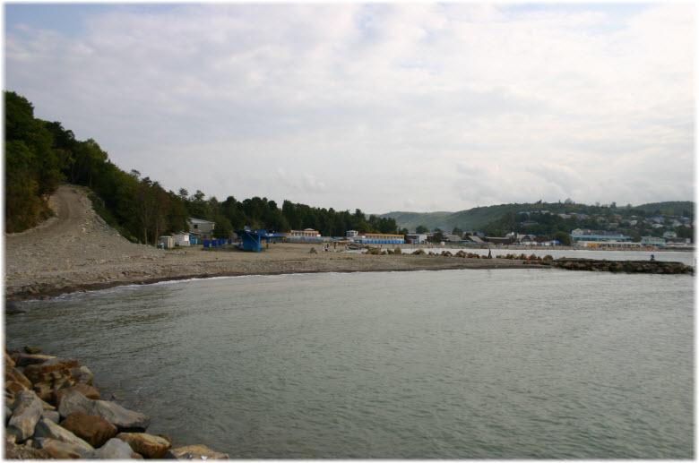 пляж санатория Джубга