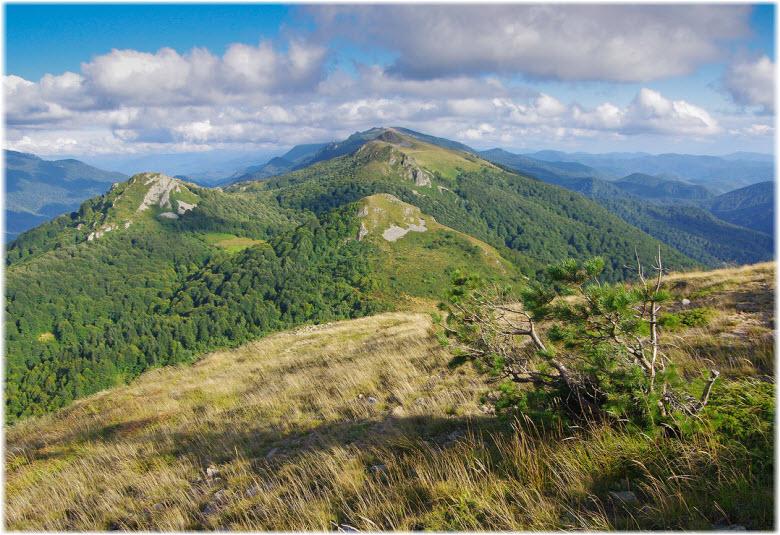 панорама горы Семиглавая