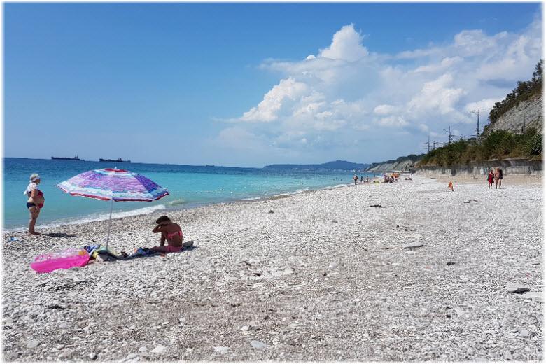 пляж пансионата Шепси
