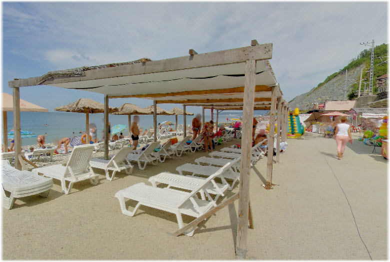 пляж Центральный в Дедеркое