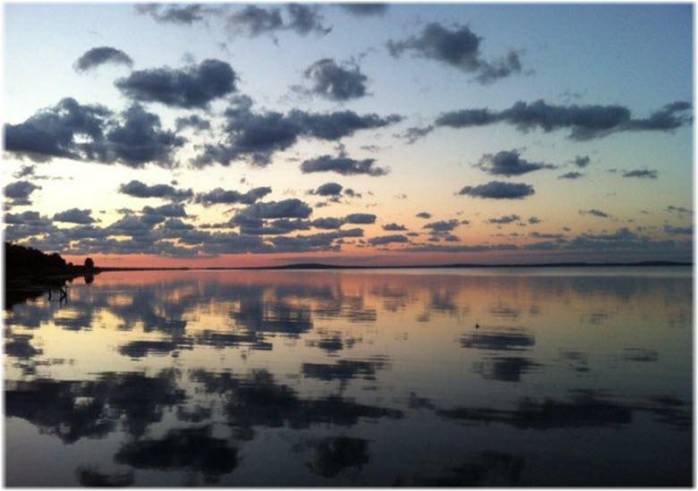 рассвет на Таманском заливе