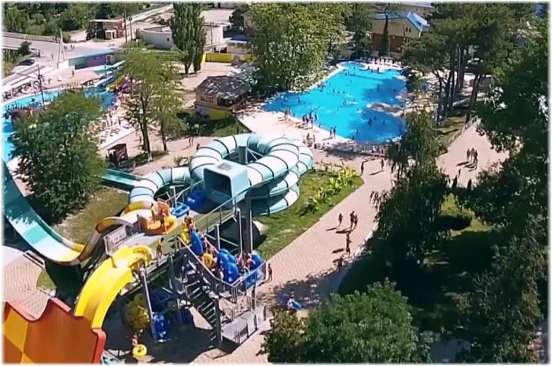 фото аквапарка с высоты