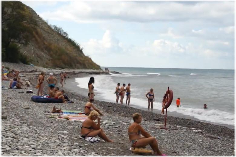 пляж Буревестник в Вишневке