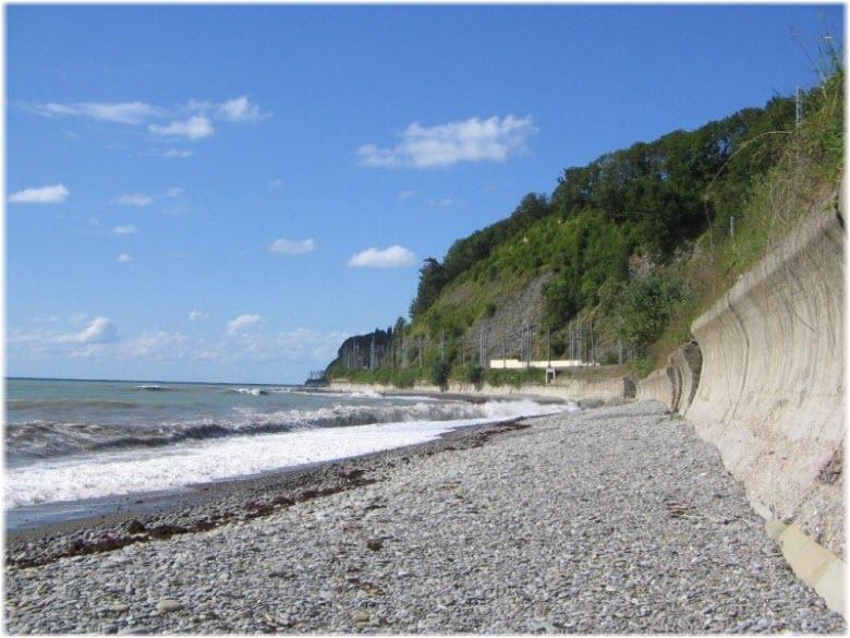 дикий пляж до Голубой Щели