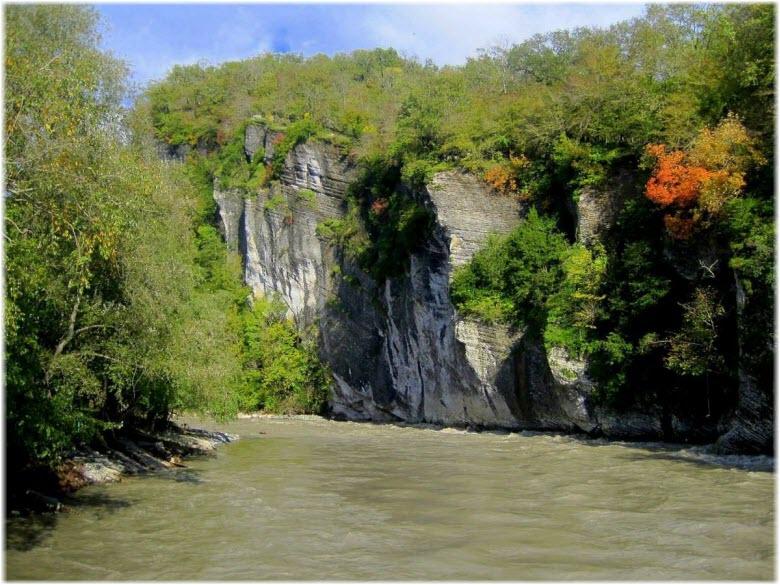река в ущелье Дзыхра