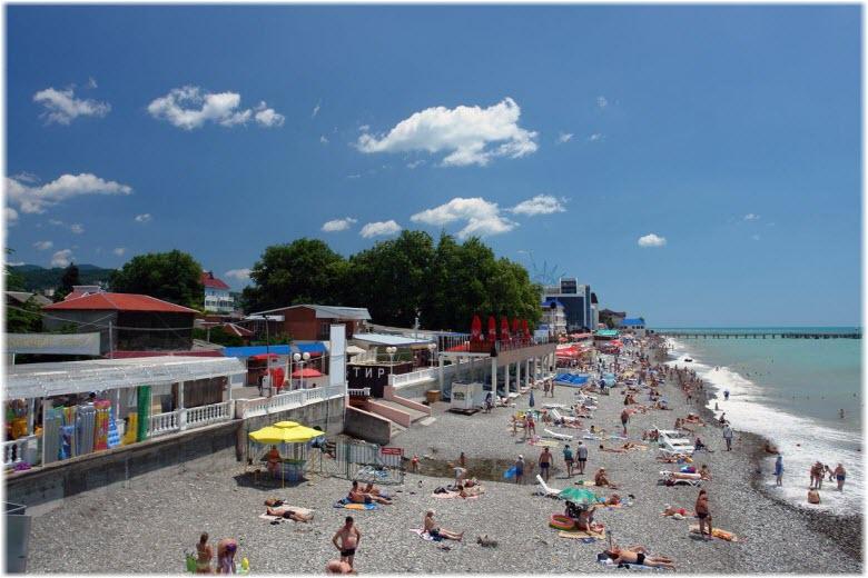 Центральный пляж в Солониках