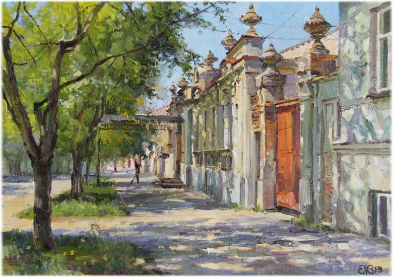дом на картине Ефремова