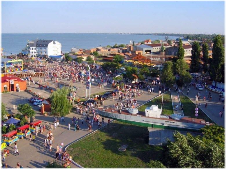 фото в районе Городского пляжа Ейска