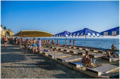 Пляж Малая бухта в Анапе