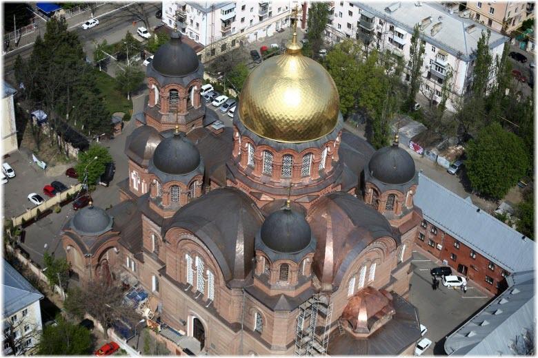 фото Екатерининского храма сверху