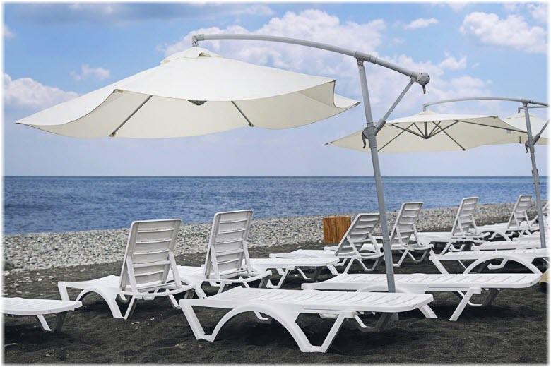 Пляж отеля «Богатырь»