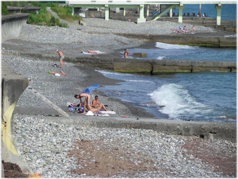 нудистский пляж Спутник
