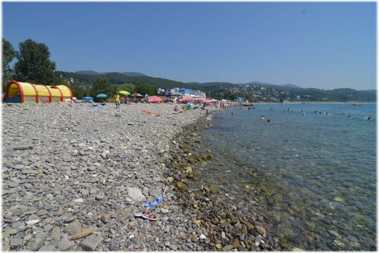 пляж Чайка в Лазаревском