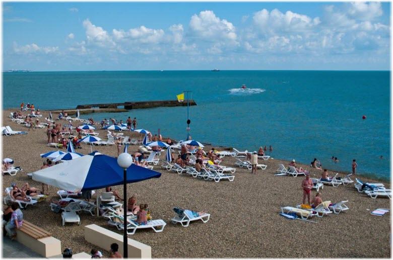 пляж санатория Спутник