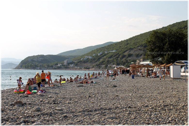 фото на пляже Широкой Балки