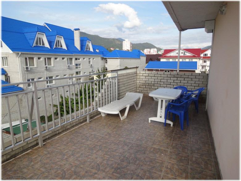 фото на терассе гостиницы