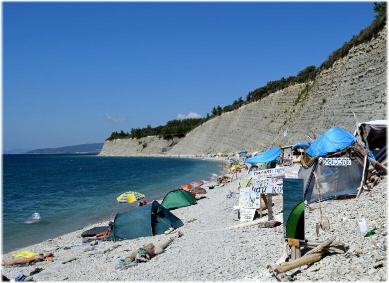 Нудисиский геленджикский пляж