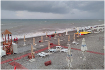 Пляж Багратион в Лазаревском