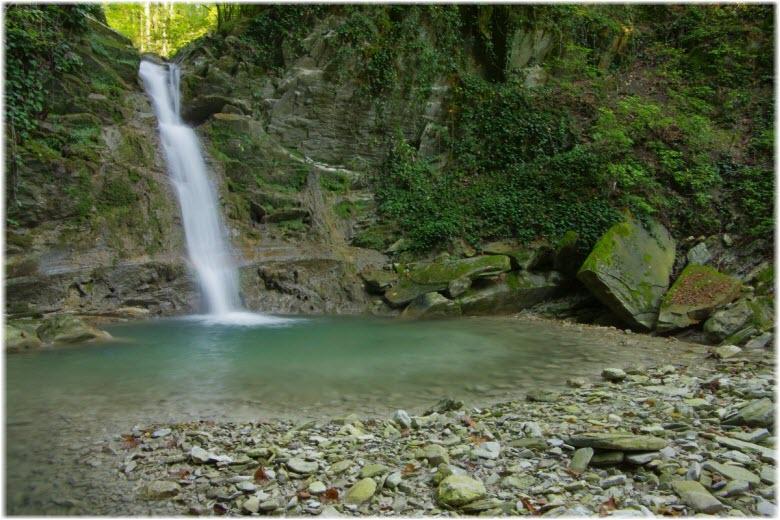 верхний водопад Дедеркой