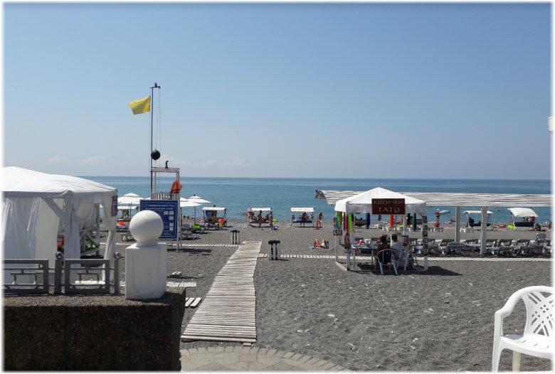 выход к пляжу Огонек