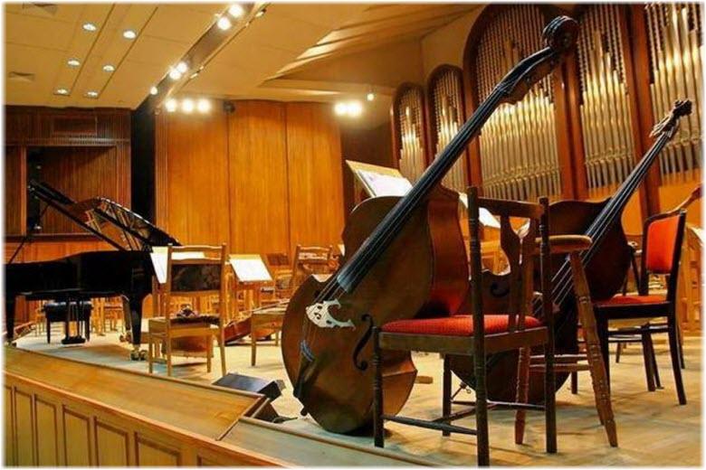 фото инструментов в Филармонии