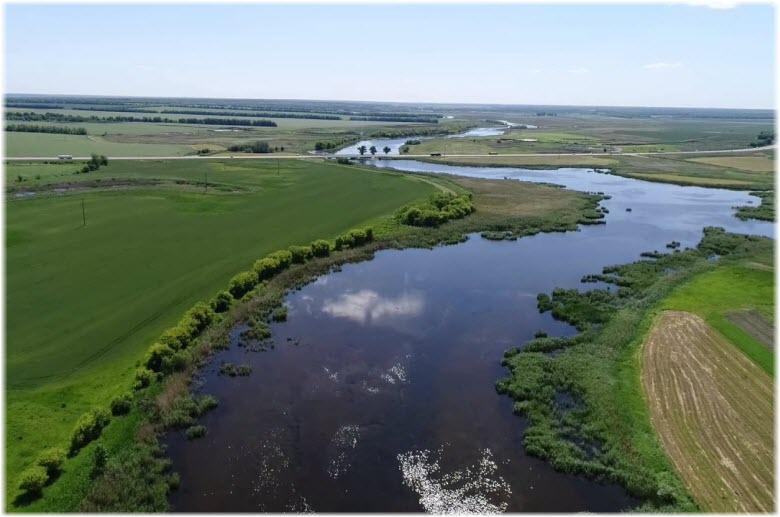 фото реки Ея с высоты