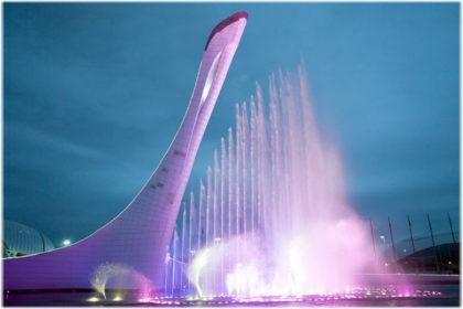 поющие фонтаны в сочи в олимпийском парке