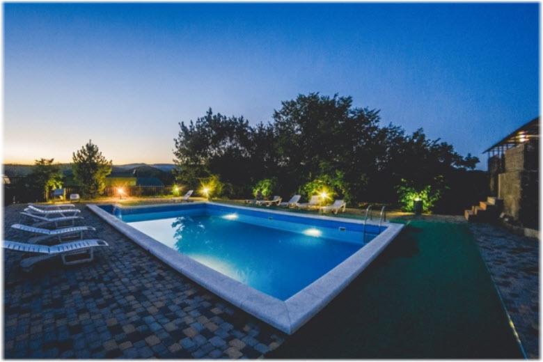 сукко гостевые дома с бассейном