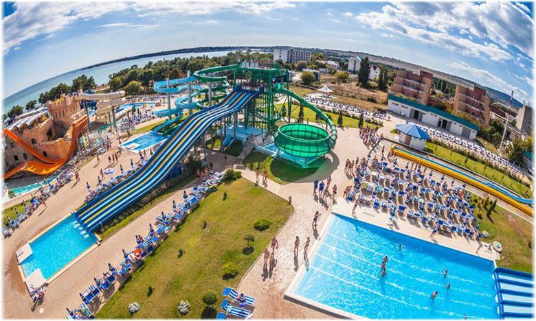Фото аквапарка с воздуха
