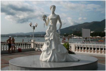 Памятник Белая Невеста в Геленджике