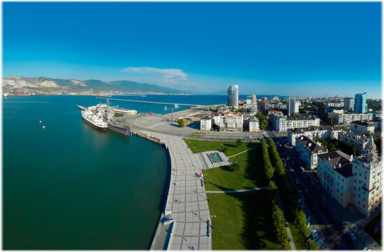 фото набережной в Новороссийске с высоты