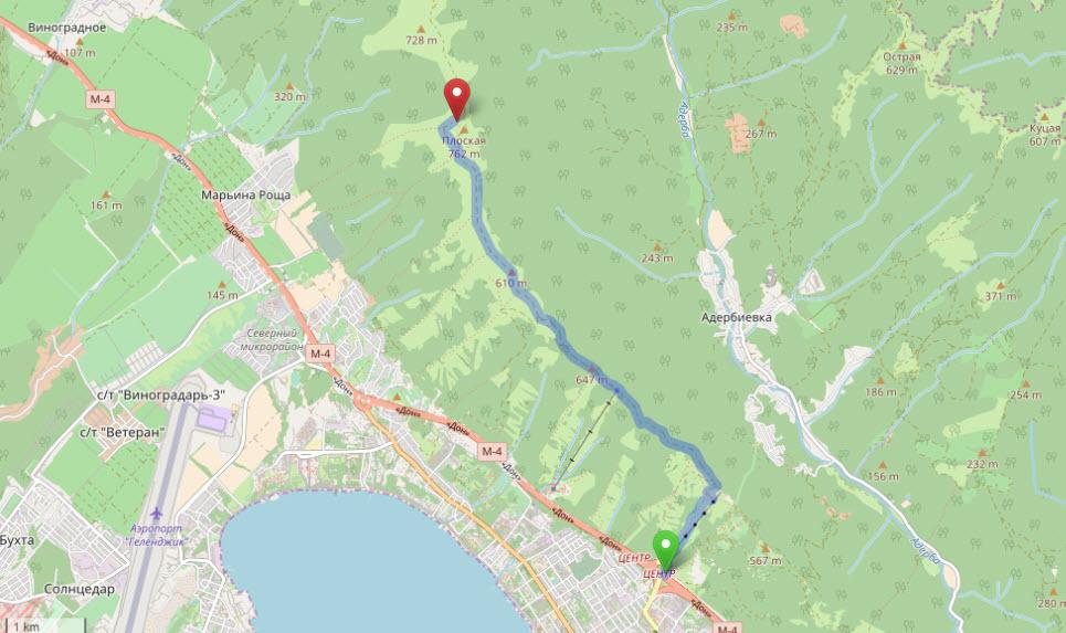 маршрут на Маркхотский хребет