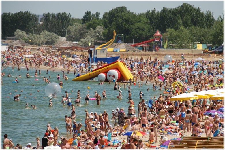 фото на Городском пляже в Анапе