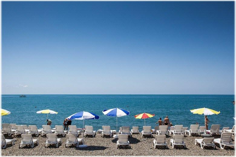 фото на пляже санатория Знание