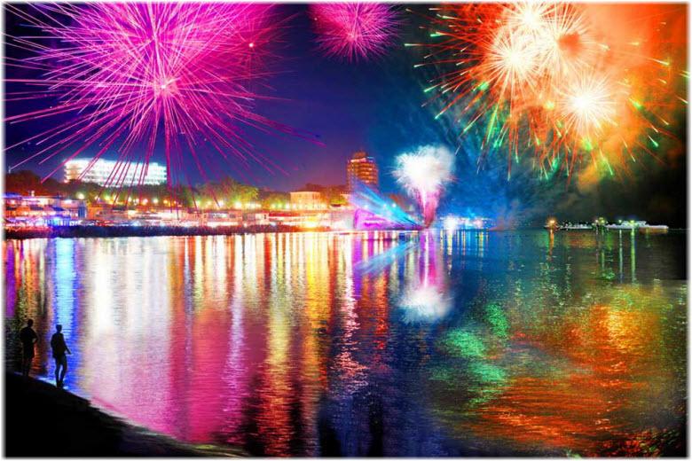 новый год в отеле Мередиан