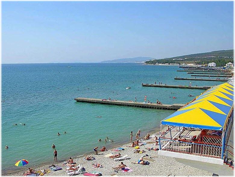 пляж Голубая даль