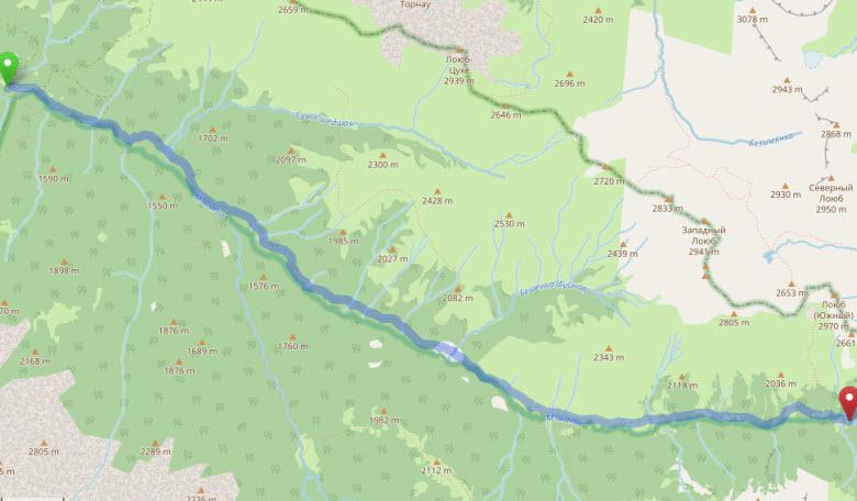 Энгельманова поляна - озеро Кардывач