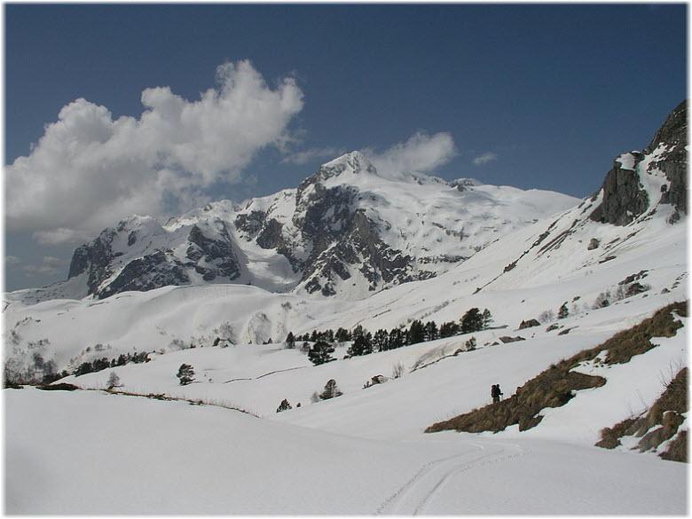 гора Фишт зимой